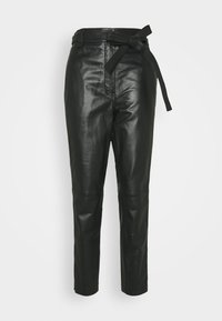 Second Female - INDIE TROUSERS - Leather trousers - caviar - 3