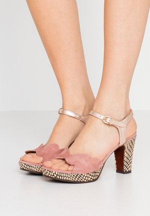 EDELIRA - Sandály na vysokém podpatku - shaddai nude/kassy natur/vintage