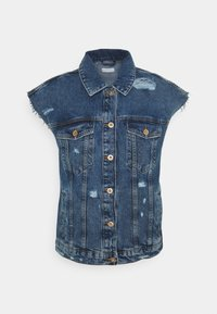 ONLY - ONLSAFE LIFE RAW PIM - Waistcoat - medium blue denim - 3