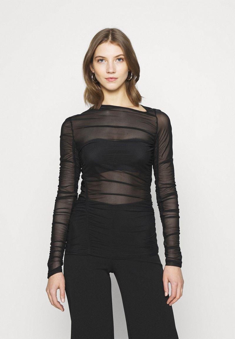 Weekday - MARGERIE LONG SLEEVE - Long sleeved top - solid black