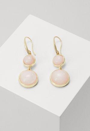 AGATHA PENDANT EAR - Earrings - gold-coloured/pink
