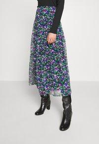 Lauren Ralph Lauren - CRINKLE SKIRT - Áčková sukně - black/multi - 0