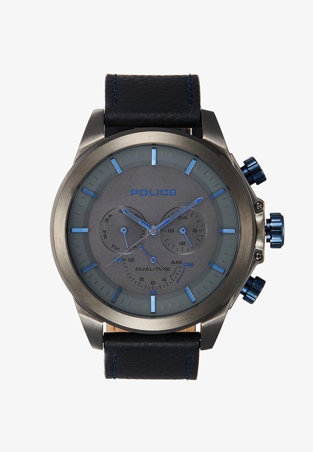 BELMONT - Watch - gunmetal/dark blue