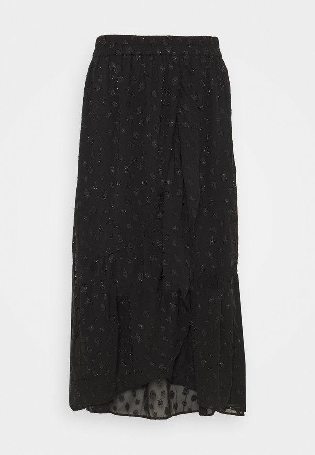 PCPERSILLA MIDI SKIRT - A-snit nederdel/ A-formede nederdele - black