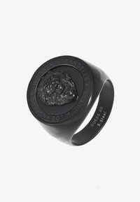 Guess - LION HEAD COIN RING  - Ring - black ip - 3