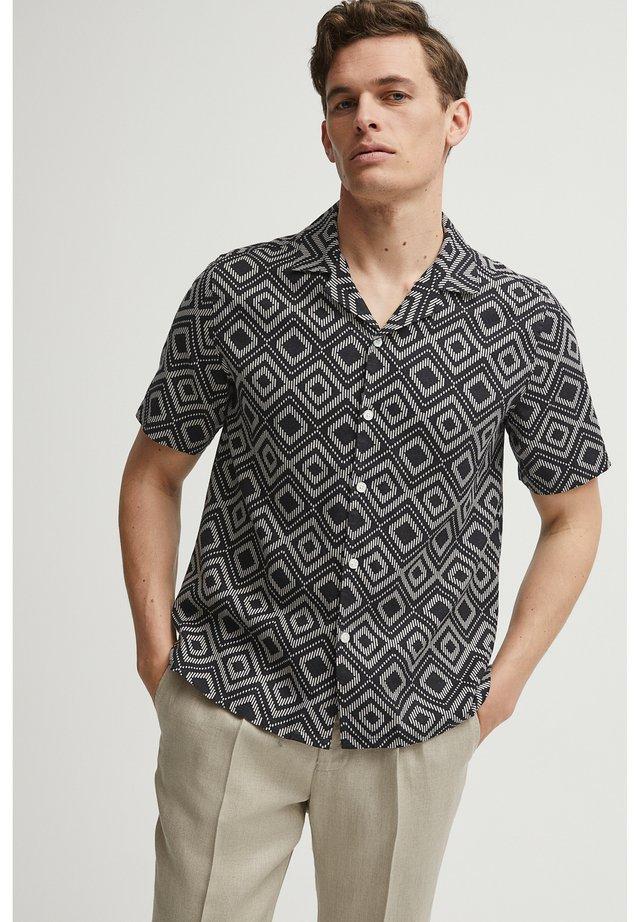 PAUL PRINT RESORT - Overhemd - black print