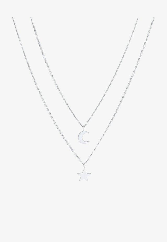 STERN MOND ASTRO  - Halsband - silber