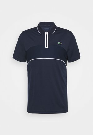TENNIS ZIP - Funktionströja - navy blue/white