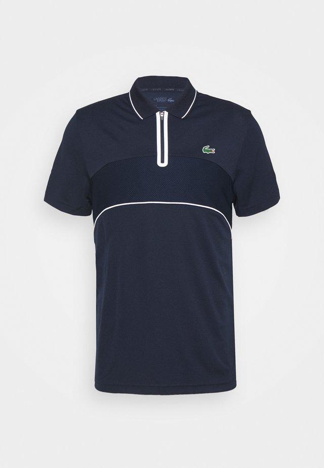 TENNIS ZIP - Treningsskjorter - navy blue/white