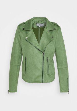 VIFADDY JACKET - Faux leather jacket - loden frost