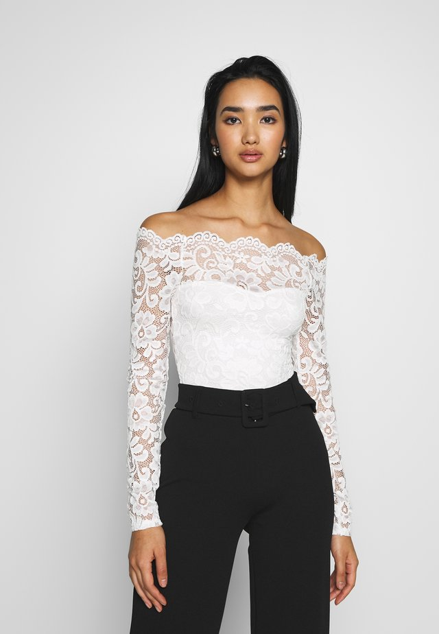 OFF SHOULDER BODY - Bluzka - off white