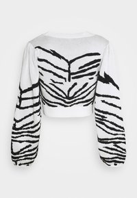 Topshop - IDOL ZEBRA PUFF SLEEVE CROP - Jumper - mono - 1