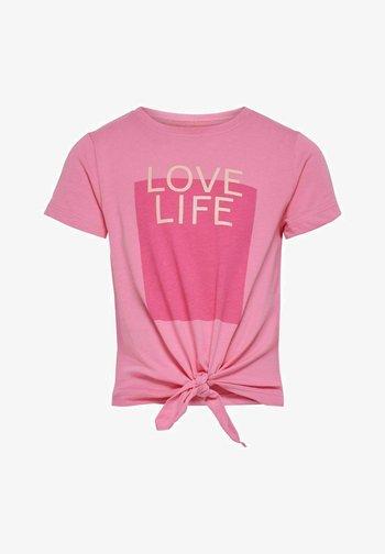 Print T-shirt - aurora pink
