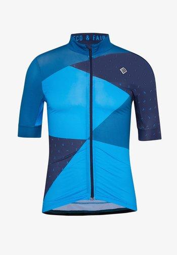 VELOZIP MEN - T-shirt z nadrukiem - mykonos blue