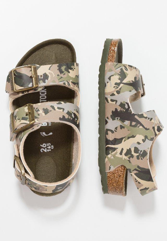 MILANO - Sandaalit nilkkaremmillä - khaki