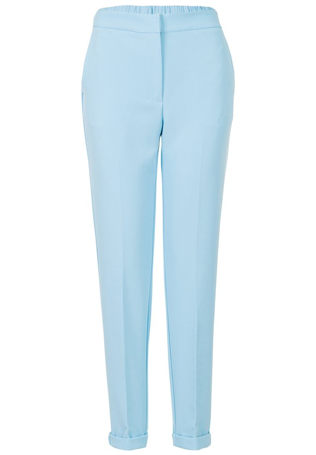 MISS E ETAM LONGWEAR LO BROEK GEWEVEN TAPERED PANTS SUIT - Broek - pearl blue