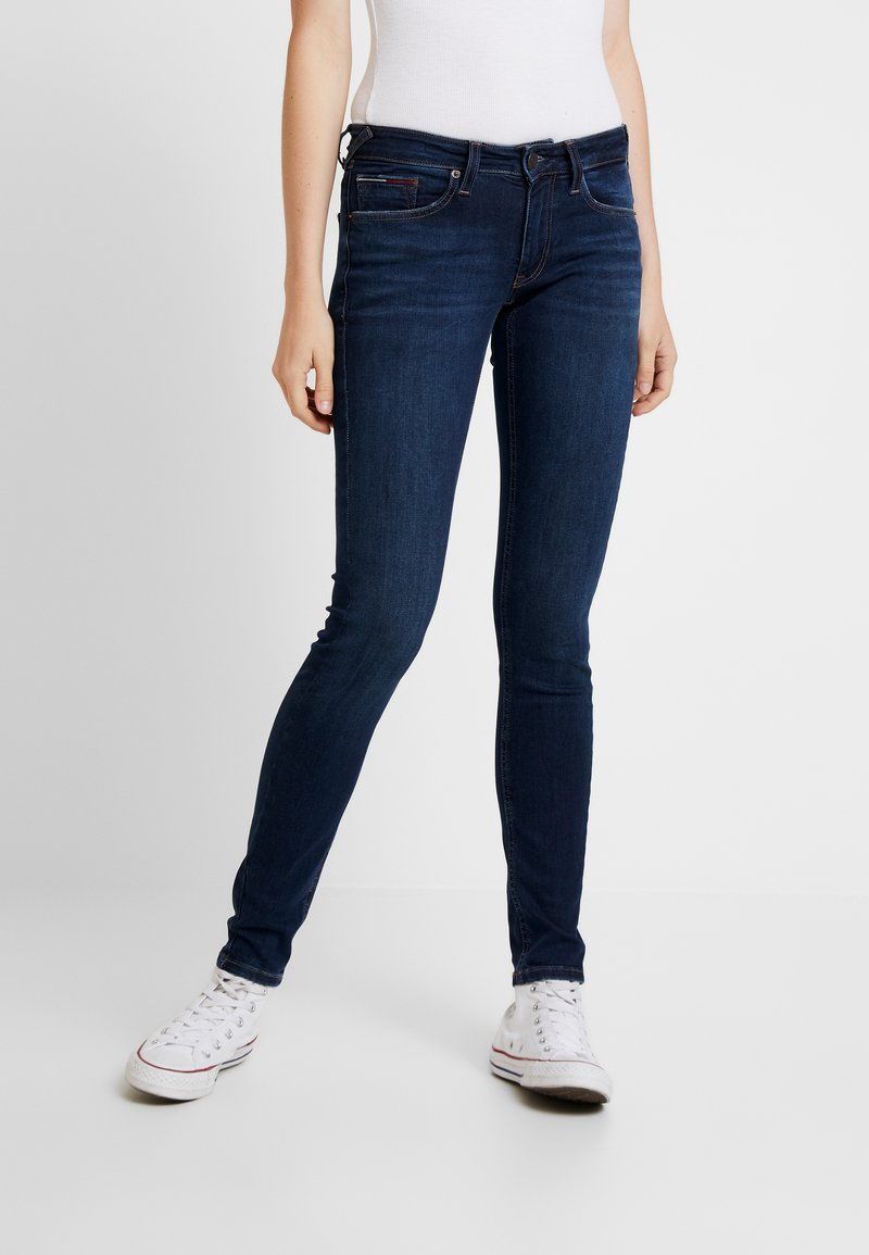 Tommy Jeans - LOW RISE - Jeans Skinny Fit - hawaii dark blue stretch