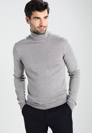 KONRAD ROLL NECK - Strikpullover /Striktrøjer - light grey melange