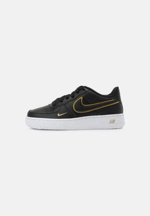 AIR FORCE 1 UNISEX - Trainers - black/gold/white