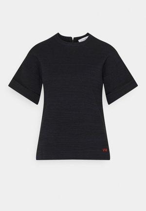 BOXY BLEND TOP - Jednoduché triko - navy melange / black