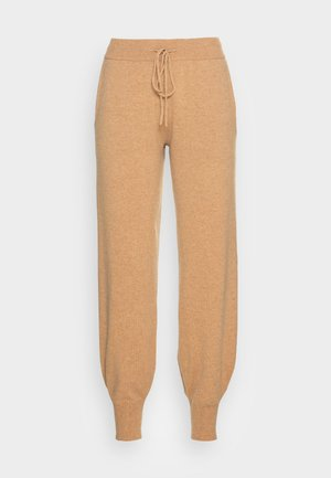 VMDARNEL PANTS - Teplákové kalhoty - tan detail melange