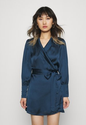 LONGSLEEVE WRAP DRESS - Day dress - pageant blue