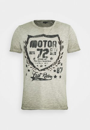 MOTOR CITY ROUND - Print T-shirt - green