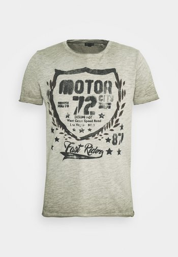 MOTOR CITY ROUND - Print T-shirt - green