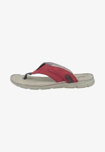 JOHN  - T-bar sandals - red