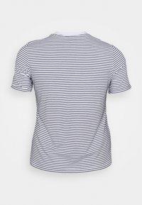Pieces Curve - PCRIA FOLD UP TEE - Print T-shirt - bright white/maritime blue - 1