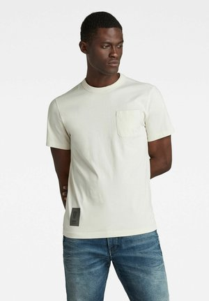 STITCH DETAIL POCKET - Basic T-shirt - whitebait