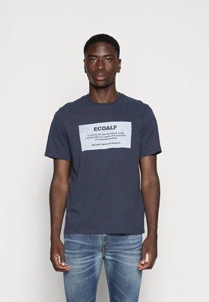 NEW NATALF LABEL PATCH - T-shirt print - navy