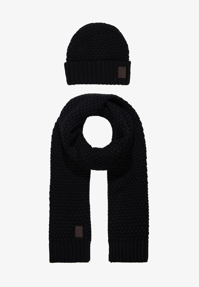 ONSCENZ BOX SCARF BEANIE SET - Scarf - black