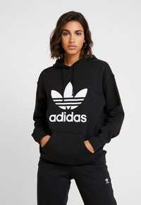 adidas Originals - ADICOLOR TREFOIL ORIGINALS HODDIE - Bluza z kapturem - black/white - 0