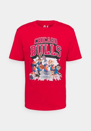 NBA CHICAGO BULLS SPACE JAM 2 TUNES ON COURT TEE - T-shirt med print - red
