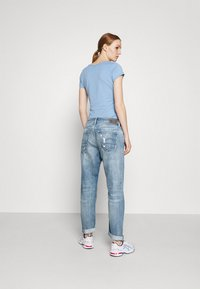 G-Star - KATE BOYFRIEND - Straight leg jeans - aqua destroyed - 2