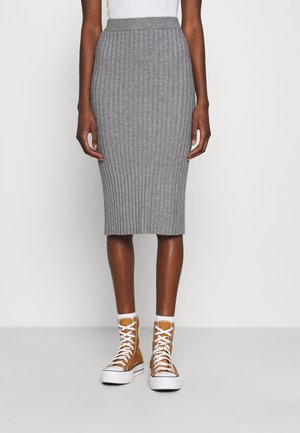 GWEN RACHELLE SKIRT - Pencil skirt - mottled grey