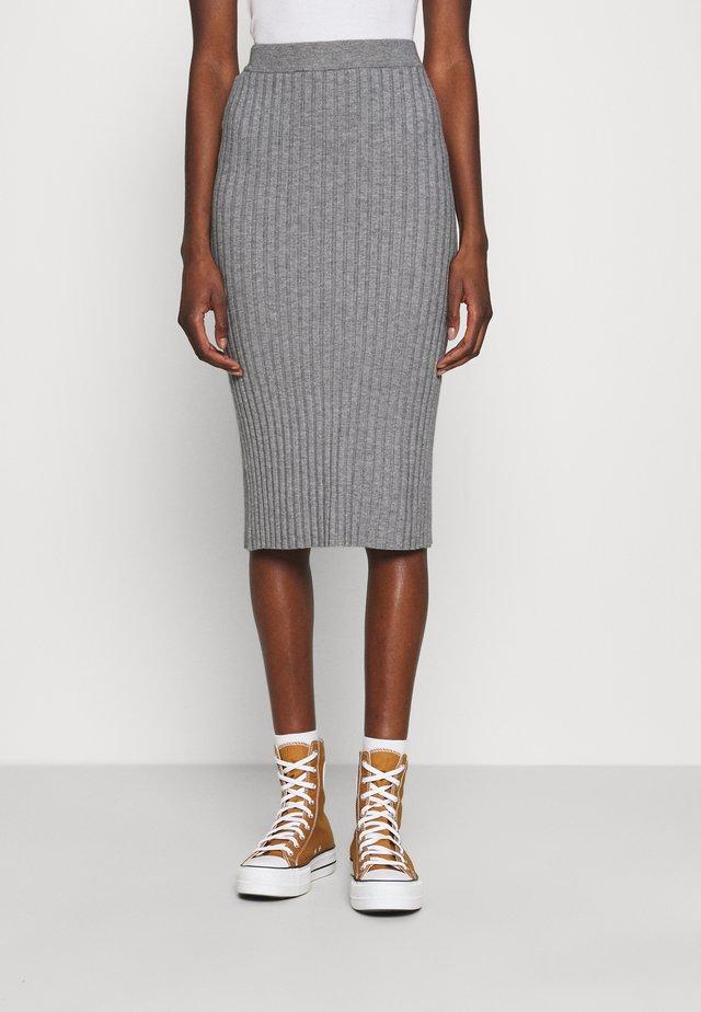 GWEN RACHELLE SKIRT - Pouzdrová sukně - mottled grey