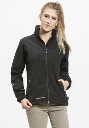 MIT WASSERDICHTER ZWISCHENMEMBRAN - Soft shell jacket - black