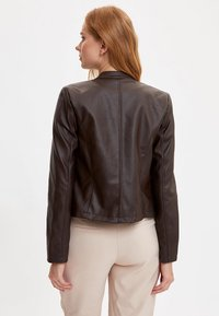 DeFacto - Faux leather jacket - brown - 2