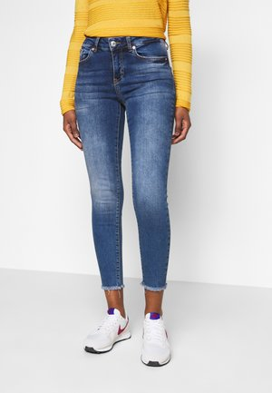 VMHANNA RAW - Jeans Skinny Fit - dark blue denim