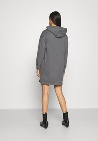 Even&Odd - MINI HOODED LOOSE FIT DRESS - Day dress - mottled grey - 2