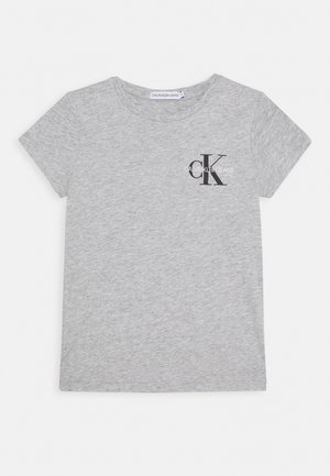 CHEST MONOGRAM - Basic T-shirt - grey