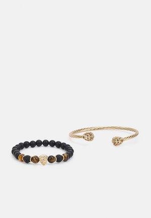 2 PACK - Bracelet - black/gold-coloured
