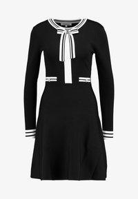 Morgan - Abito in maglia - noir/off white - 5