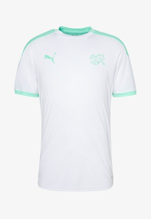 SCHWEIZ SFV TRAINING - National team wear - white/green glimmer