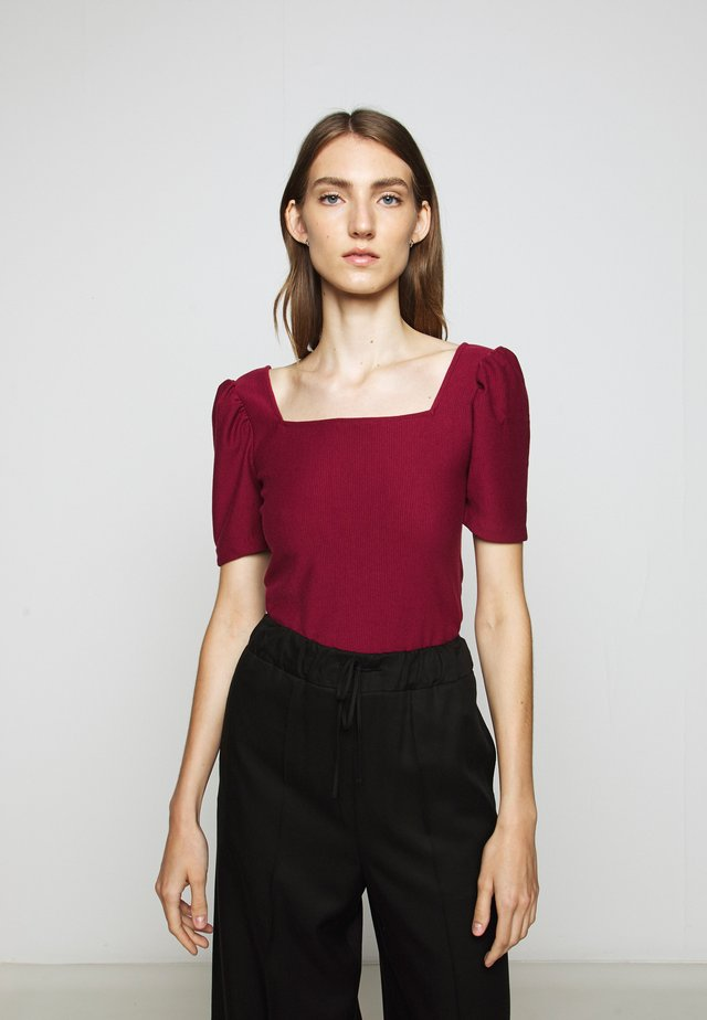 PUFF SLEEVE - T-shirts med print - berry
