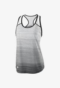 Wilson - TEAM STRIPED TANK - Sports shirt - black/white - 0