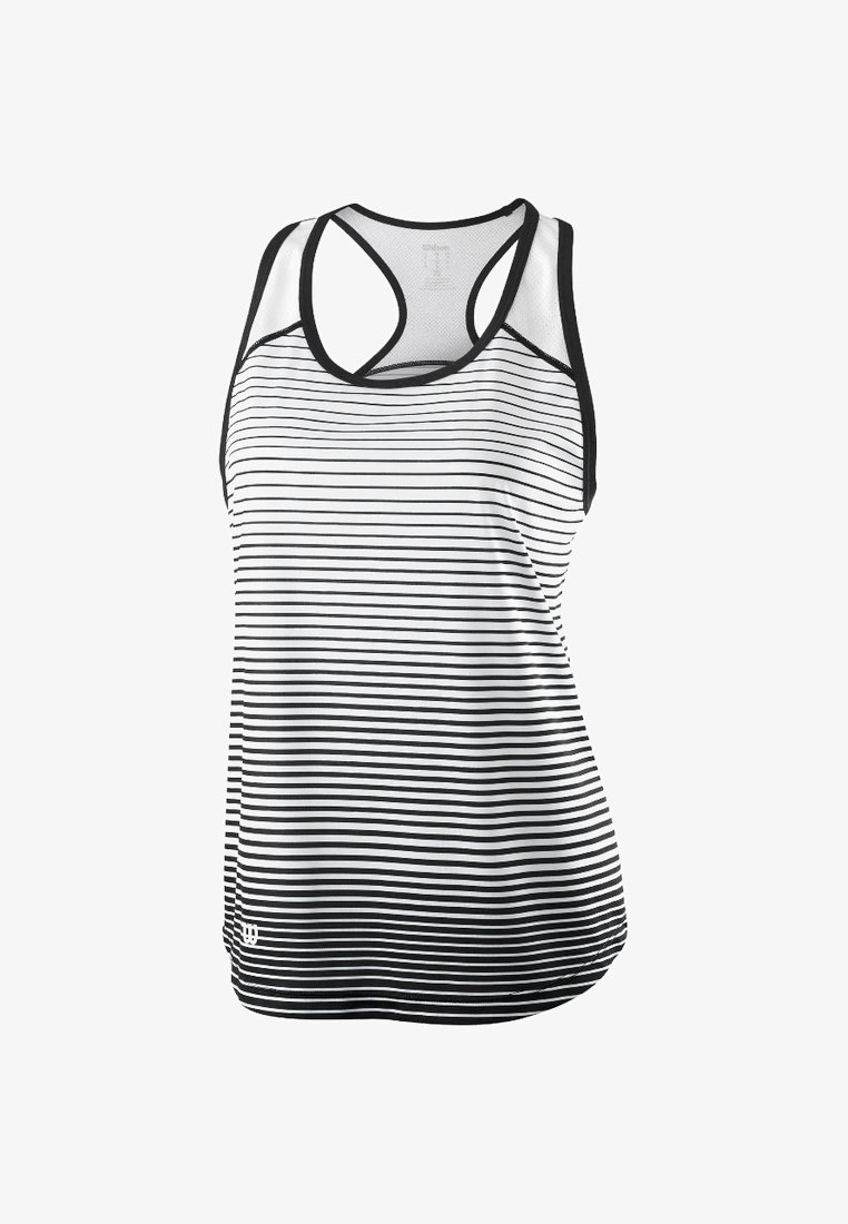 Wilson - TEAM STRIPED TANK - Sports shirt - black/white
