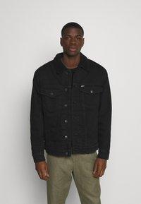 Tommy Jeans - UNISEX - Denim jacket - kalmar black - 0